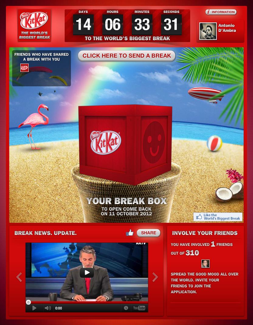 Най-голямата почивка в света с Kit-Kat и Facebook