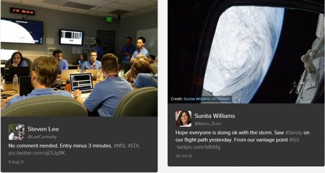 """Тук най-запомнящи остават снимката на екипа на марсохода """"Curiosity"""", тръпнещ в очакване роувърът да кацне на Марс, както и туитът на Джеймс Камерън, споделен след като се докосна до дъното на океана."""
