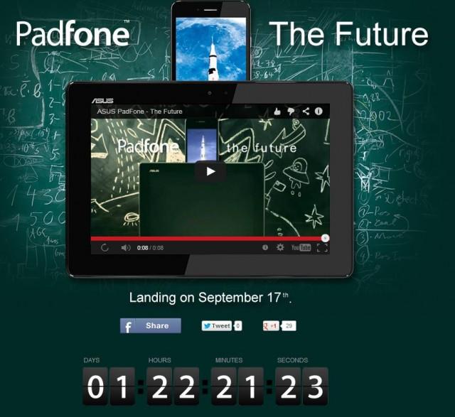 Нов Padfone Infinity 2 от Asus на 17 Септември