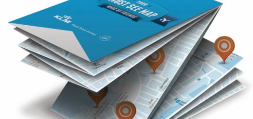 Персонализирани туристически карти от KLM