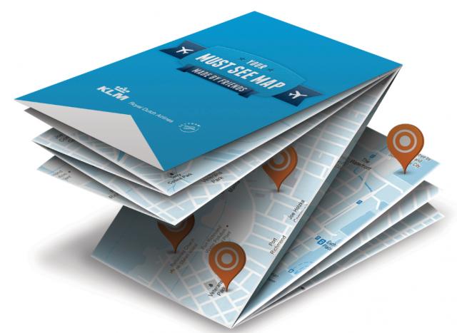 Персонализирани туристически карти от KLM в Социална сряда