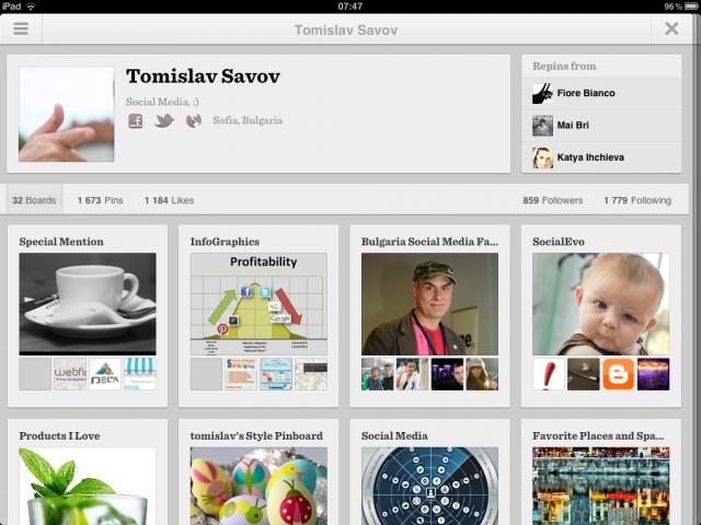 Pinterest за Ipad и Android е вече тук!
