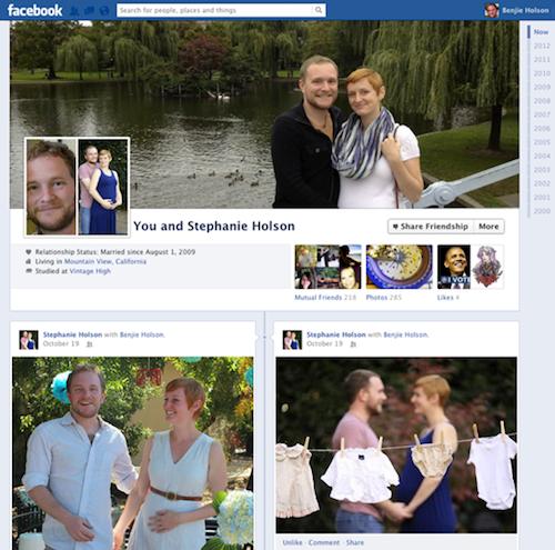 Друга нова опция за страниците е възможността на приятелите да въведат информация за това кога, къде и как са се срещнали.