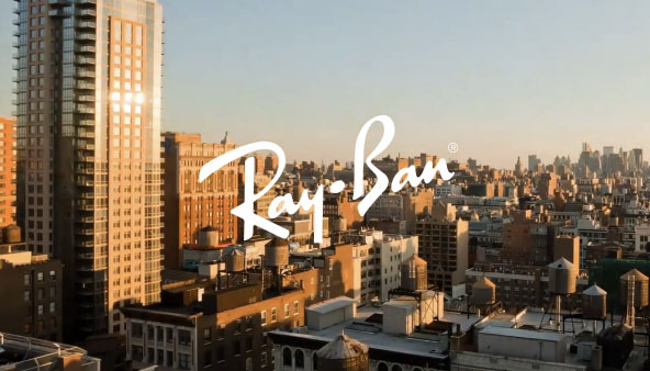Ray Ban с поредно креативно приложение