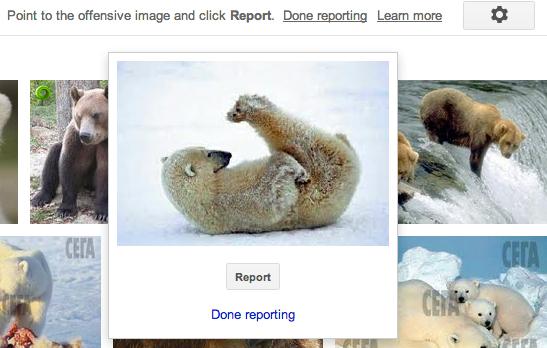 Ако искате да докладвате дадена снимка, няма да ви е особено трудно.