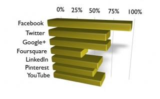 Почти всички имате профили във Facebook (98%), Google+ (74%) и Twitter (73%).