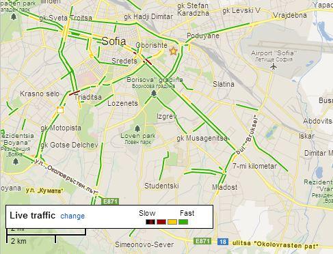 Разгледайте картата за трафика тук