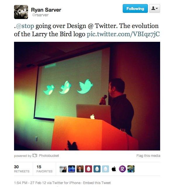 На една от презентациите в компанията преди дни се показа еволюцията на логото, а един от работещите дори и туитнъл тази новина