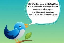 Twitter разтърси Япония с 6.8 по Рихтер