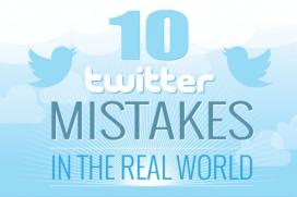 Десет Twitter грешки в истинския живот – забавна инфографика