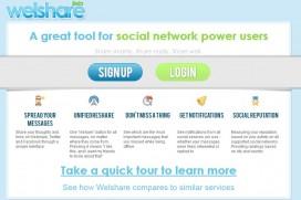 Welshare или Facebook и Twitter на едно място