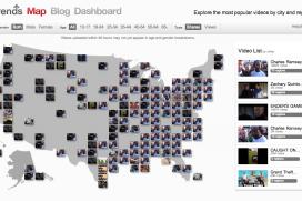 Google стартира YouTube карта с най-популярните клипове в реално време